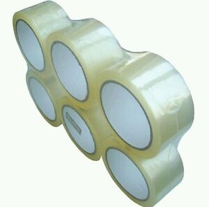 6 Rolls 3 Clear Tape 110 Yard 330 Ft Clear Packing Tape Carton Sealing Box