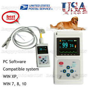 Cms60d vet Veterinary Pulse Oximeter tongue Spo2 Probe pc Software Usb