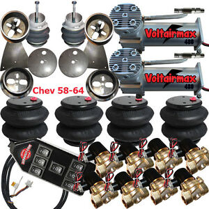 V Air Suspension 3 8 Valve 7 Switch Dc100 Compressor 1958 64 Chevy Impala