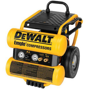 Dewalt 4 Gallon Dolly style Air Compressor D55154r Reconditioned