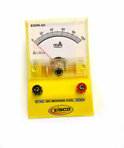 Eisco Labs Analog Ammeter Dc Current Meter 0 100 Milliamp 2ma Resolution