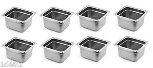 1 6 Size Standard Anti jam Stainless Steel Steam Table Hotel Pan 4 8 Pack