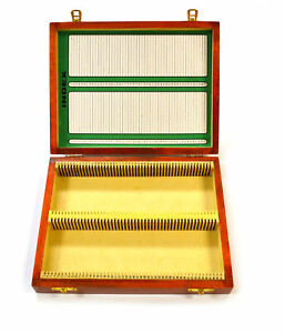 Eisco Labs Wooden Microscope Slide Box 100 25x75mm Slides