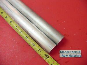 2 Pieces 1 1 4 Aluminum 6061 Round Rod 12 Long T6511 1 25 Od Solid Bar Stock