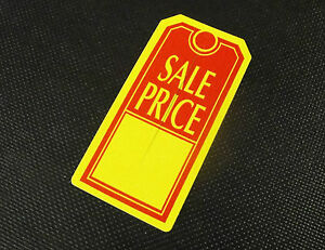 Large Tags sale Price Yellow And Red 1000 Free Shipping
