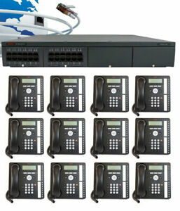 Avaya Ip500 V2 Digital Voip Phone System Package W 12 1416 Phones