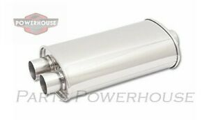 Vibrant 1110 Oval Muffler 2 5 Inlet X Dual 2 Outlet Center dual