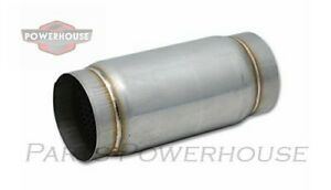 Vibrant 1796 Stainless Steel Race Muffler 3 5 Inlet Outlet