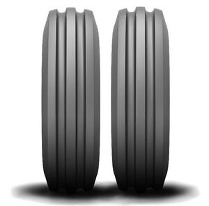 2 New Farmall Cub 4 00 12 D s 3 rib Front Tractor Tires 400 12 Free Shipping