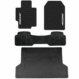 Rubber All Weather Floor Mats Universal Runner Cargo Trunk Mat For Honda Accord