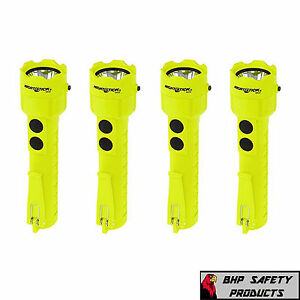 Nightstick Xpp 5422g Waterproof Safety Flashlight 120 Lumens Green 4 Pack