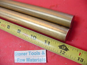 2 Pieces 3 4 C360 Brass Solid Round Rod 12 Long Lathe Bar Stock 750 Od H02