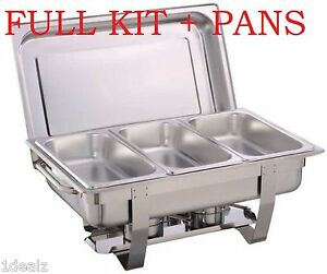 1 Full Size Chafer Kit 3 Bonus 1 3 Size Pans Catering Hotel Chafing Dish more