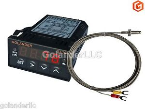 Universal 1 32din Digital Pid Temperature Controller Red With K Thermocouple