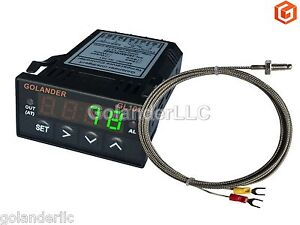 Universal 1 32din Digital Pid Temperature Controller Green With K Thermocouple
