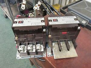 Cutler hammer Reversing Contactor C832kn9 200a 120v Coil Used