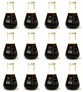 Case Of 12 250ml Erlenmeyer conical Flasks Glass Premium Borosilicate 3 3