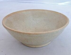 Song Dynasty Antique Chinese Celadon Green Glazed Pottery Tea Bowl 4 75