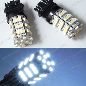 2x Backup White Led Bulbs Reverse Light 54 smd 3156 3157