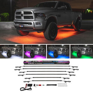 Ledglow 6pc Million Color Slimline Truck Underbody Underglow Led Lighting Kit