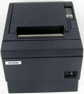 Epson Tm t88iii Receipt Printer Charcoal Rs232 serial Interface W power Supply