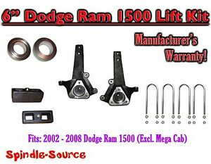 2002 2008 Dodge Ram 1500 2wd 6 Front 2 Rear Spindle Coil Block Lift Kit