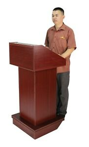 Church Podium Wheel Pulpit Convertible Pulpit Floor Lectern Reception Desk Table