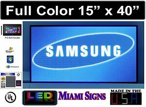 Full Color Led Sign Pc Programmable Videos Logos Images Size 15 X 40 Pitch 5mm