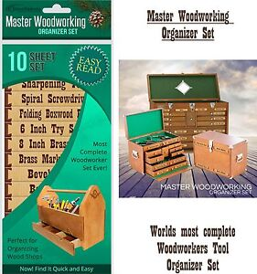 Organizer Labels For Wood Tool Drawers Cabinets Master Woodworker 10 Pc Set