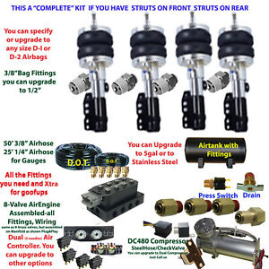 Air Suspension Kit Volkswagen Strut Front Struts Rear See Description Below