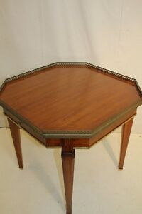 Great Directoire Walnut Octagonal Top End Side Table One Drawer