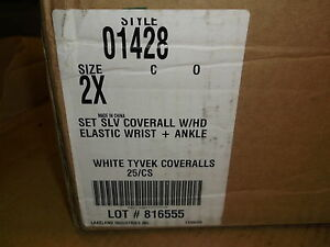 New Orr Safety Tyvek Coverall White Suite 2xl 0142b Orr1428xx Case Of 25