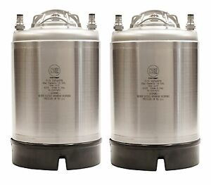 2 5 Gallon Ball Lock Kegs New Two Pack Pressure Relief Homebrew Ships Free