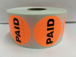 10 000 Labels 1 5 Round Orange Paid Retail Price Point Stickers 10 Rolls