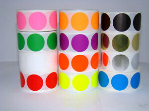 12 Rolls Round 1 Inch Color Coding Coded Inventory Dot 500 Labels Each Color P2