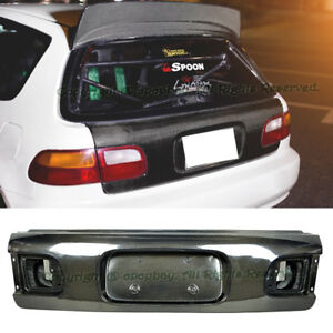 Fit 92 95 Honda Civic 3dr Hatch Oe Factory Style Carbon Fiber Rear Trunk Cover