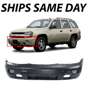 Primered Front Bumper Cover Replacement For 2002 2008 Chevy Trailblazer Suv