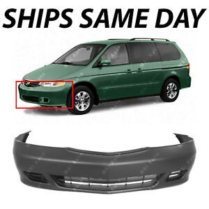 New Primered Front Bumper Cover Replacement For 1999 2004 Honda Odyssey Van