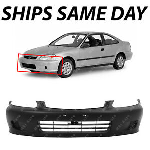 New Primered Front Bumper Cover Fascia For 1999 2000 Honda Civic Coupe Sedan