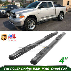 4 Steel Oval Nerf Bar For 09 17 Dodge Ram 1500 Quad Cab Running Board Side Step