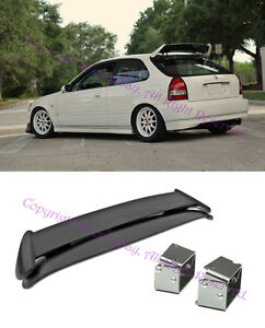 Fit 96 00 Ek9 3dr Hatchback Civic Type R Spoiler W Adjustable Tilt Brackets