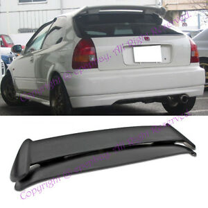 Fit 96 00 Honda Civic Ek9 3dr Hatchback Abs Type R Style Spoiler Wing Jdm