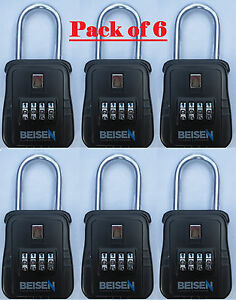 Pack Of 6 Lockbox Key Lock Box For Realtor Real Estate 4 Digit