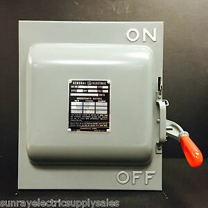 Ge Industrial Tc36362 3p 600vac 250vdc 60a Non fusible Knife Blade Safety Switch