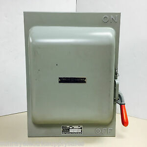 Ge Industrial Tc36264 2p 600vac Or Dc 200a Non fusible Knife Blade Safety Switch