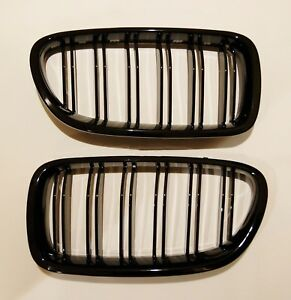 M5 Style Piano Gloss Black Front Hood Grilles Grille For 11 16 F10 F11 535i 550i