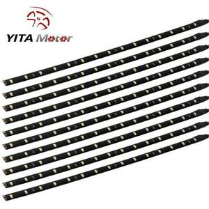 Yita 5x Waterproof White Car Motor Trunk 30cm 12 Led Flexible Strip Light Lamp