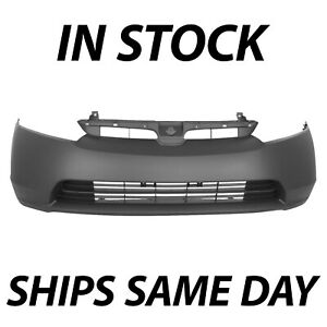 New Primered Front Bumper Cover Fascia For 2006 2007 2008 Honda Civic 1 8 Sedan