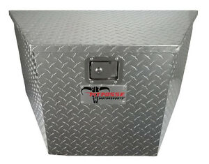New Pit Posse Storage Universal Aluminum Trailer Tongue Tool Box Cabinet