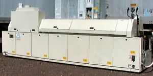 448 Kva Btu Vip98 Reflow Oven 7 Zone 300c 572f 29 Sqft Chain Surface 22 Wide